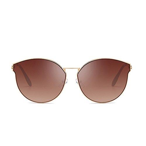 Whycat Vintage Sonnenbrille Kleine Metallrahmen Bonbonfarben, Mode Polarisierte Sonnenbrille Verspiegelte Linse Retro Sonnenbrille Polarisiert(C)