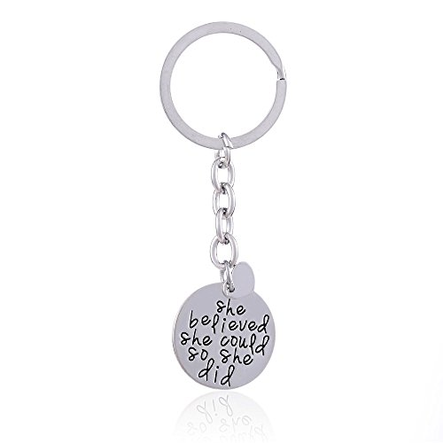 family-friend-gift-silver-little-heart-she-believed-she-could-so-she-did-double-pendant-key-chain-ri
