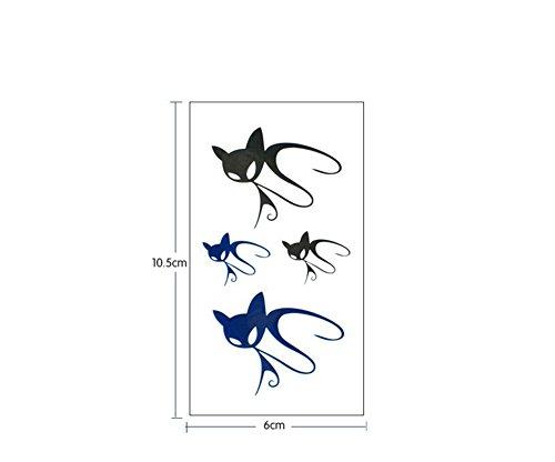 10 Stück Wasserdicht Ungiftig Körperkunst Entfernbare Tattoo Aufkleber Temporäre Tattoos Gefälschte Tätowierung Aufkleber Kätzchen (Kätzchen Temporäre Tattoo)