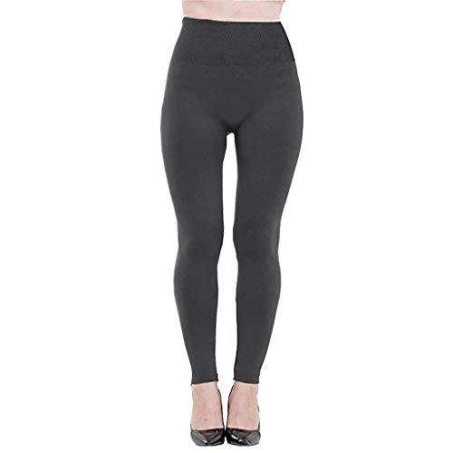 27a5c4282b3d JIANGfu Leggins Donna Sportivi Invernali Tinta Unita,Pantaloni Moda Vita  Alta Yoga Pantacollant (Free