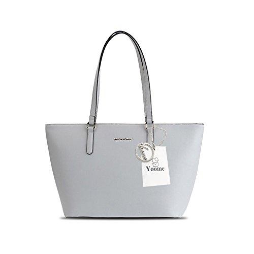 Sacchetti eleganti di borse di modo di Yoome di grande capacità per sacchetti di sacchetto di trucco della borsa delle signore delle donne - dentellare Grigio
