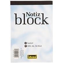 10 Notizblöcke / Schreibblock Din A6 / kariert / 50 Blatt je Block