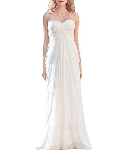 Special Bridal Spitze Schatz Backless Brautkleider Mantel Einfache Chiffon Brautkleid