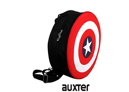 Best boys backpack in India 2020 Auxter Red Polyester 20L Avengers Captain America Shield School Backpack Image 3
