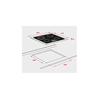 Teka TB6315  – Placa (Integrado, Ceramic hob, Vidrio, Front trim, Tocar) Negro