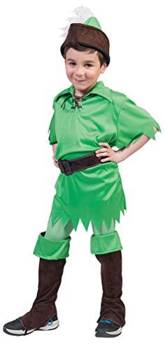Karneval-Klamotten Peter Pan Kostüm Jungen Größe 116 (Baby Peter Pan Kostüm)