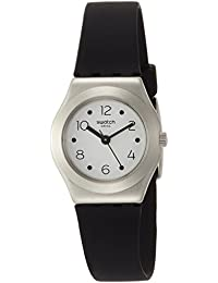 Swatch Soblack White Dial Ladies Silicone Watch YSS315