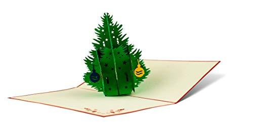 Biglietto Di Natale Con Albero 3d A Comparsa Fatto A Mano Alta
