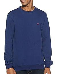 DELHITRADERSS® Mens Winter Imported Long Sleeves Slim Warm Sweatshirt(Size-M)(Dark Blue)