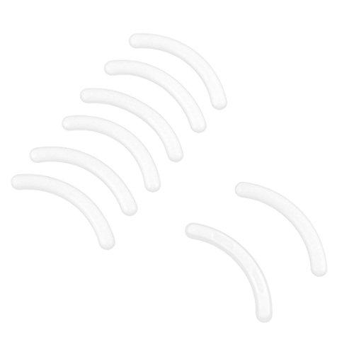 Sourcingmap Lot de 8 coussinets de rechange pour recourbe-cils Blanc