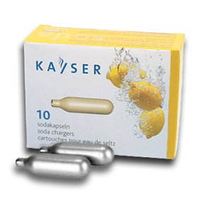 Kayser 8 gram Soda Chargers- Pack of 10 CO2 Chargers