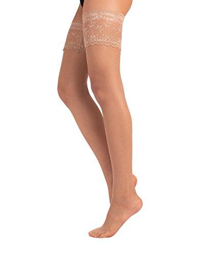 Calze autoreggenti sposa | intimo sposa | lingerie sposa | avorio, bianco, naturale | 15 den | made in italy (m/l = 3/4, naturale)