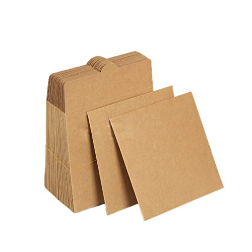 30er-Pack mit Umschlägen für CDs und DVDs von Zeato, aus Kraftpapier, 12,5 cm x 12,5 cm