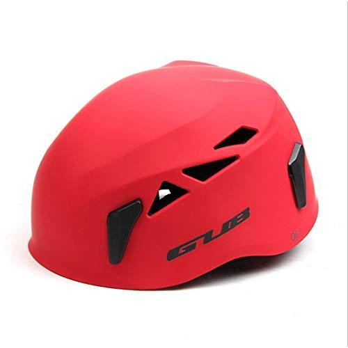 Df-it casco gub d6 outdoor development speleologia soccorso casco da alpinismo attrezzatura da arrampicata con cappello di sicurezza (colore: rosso)