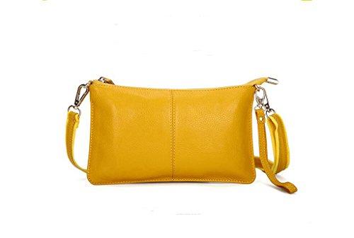 tutta la signora primo strato di messenger bag in pelle, borsa a mano, sacchetto di sera, borsa casual yellow