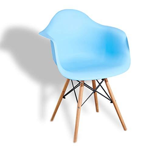 Chunse Sessel PP Rückenlehnenstuhl Holz/Metall Bein Schaukelstuhl Nordic Style Freizeit Stuhl,C -