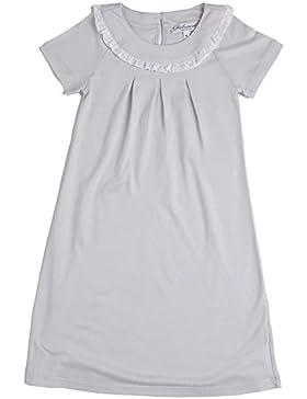 [Sponsorizzato]Mod.129,camicia da notte Siebaneck mezza manica bambina/ragazza ( da 2 a 16 anni ), 55%modal 45%cotone grigio...
