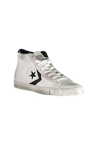 Converse Unisex-Erwachsene Lifestyle Pro Leather Mid Sneakers, Mehrfarbig (Star White/Black/Turtledove 107), 38.5 EU (Star Pro Converse)
