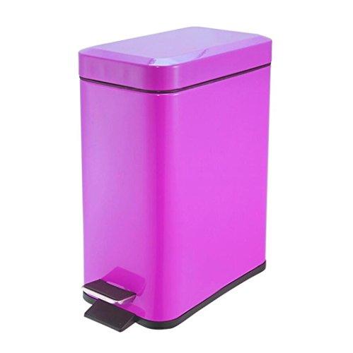 LyMei Edelstahl-Schritt-Abfalleimer, 5 Liter-Pedal-Küchen-Abfalleimer für Badezimmer, Küchen, Innenministerien, Schlafsaal-Abfalleimer,...