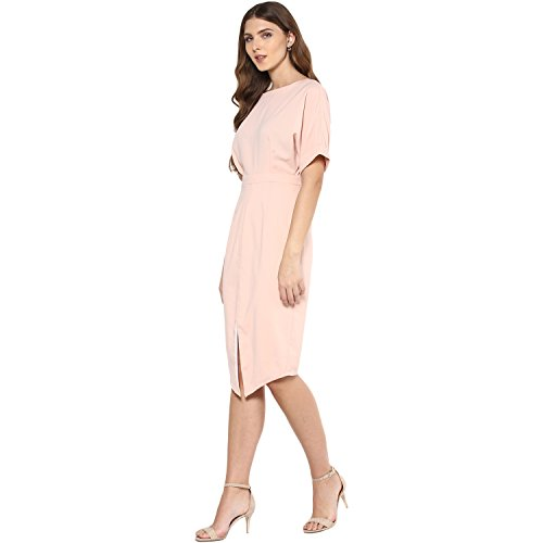 Femella Fashion's Blush Front Slit Midi Dress( DS-35935-1413-BSP-M