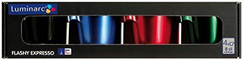 Luminarc Set 4 Tazas 8 Cl Modelo Flashy Expreso
