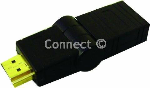 Adaptador para enchufe de Hdmi doble y giratorio Universal/con conectores de oro permite un fácil acceso para pantallas de TV LCD de montaje en pared - cable adaptador de menos stressHDMI giratorio de - embalaje de Accessory