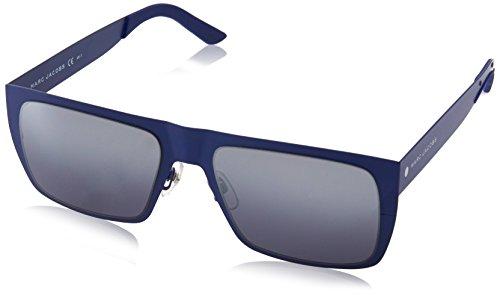 Marc Jacobs Unisex-Erwachsene Marc S J3 6VX 55 Sonnenbrille, Matt Blue/Grey Slvsp Degr -