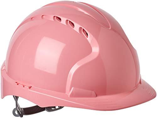 JSP, casco protettivo EVO2 con sottogola regolabile, ventilato, rosa (modello AJF030-003-900)