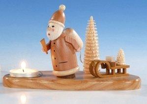 Luz del candelero + del té con la Navidad del padre, 12 sin pintar cm