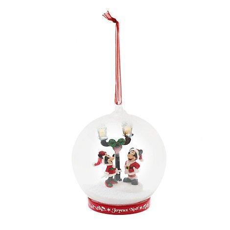Unbekannt Mickey und Minnie beleuchtete Glas Weihnachten Dekoration, Ornament, Dekoration Disneyland Edition, offizielles (Deluxe Eis Prinzessin Kostüm)