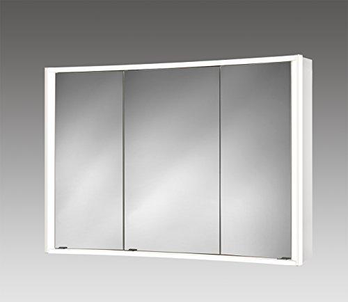 Spiegelschrank Jokey Lightcurve weiss 3 Türen 100×70 cm