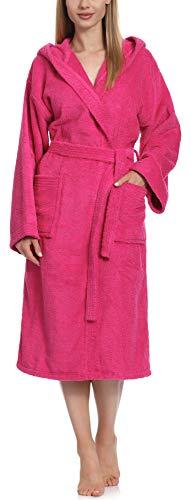 Ladeheid Albornoz de Baño 100% Algodón Ropa de Casa Mujer LA40-193 Rosa-25 Densidad de 400, M
