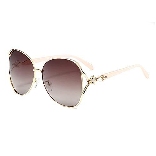 BAIJJ Sonnenbrille Ms. Polarized Large Frame Fox Sonnenbrille Elegant Wild Trend Metal Gla