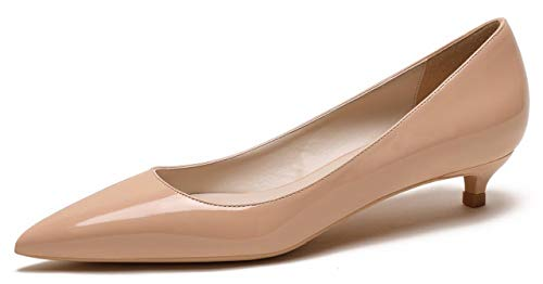 CAMSSOO ,  Damen Klassisch, Nude patent Leather - Größe: 39 EU F Nude Patent Leather