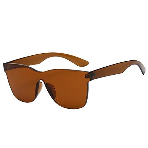 Mindruer Edelstein Sonnenbrille in Herzform Shades UV400Sonnenbrille, Hellbraun, 5.2x14x14.6cm