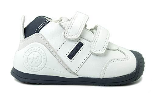 Imagen para Biomecanics 151157, Zapatos de primeros pasos Unisex Bebés, Blanco (Blanco/Azul/Sauvage), 19 EU