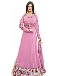 Floor Length Georgette Embroidery Anarkali Dress (semi-stitched) With Embroidery Semi-stitch Koti