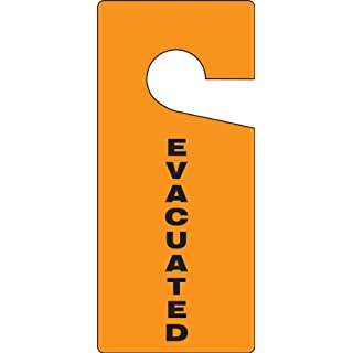Accuform Signs TAD838 Standard Door Knob Hanger Tag, Legend EVACUATED, 9