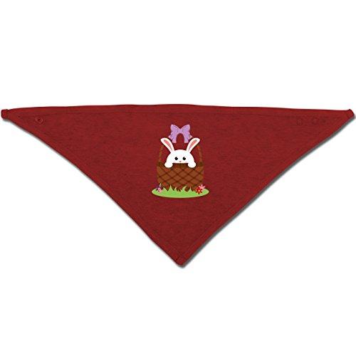 rhase im Korb - Unisize - Rot - BZ23 - Baby-Halstuch als Geschenk-Idee für Mädchen und Jungen (Baby-ostern-korb-ideen)