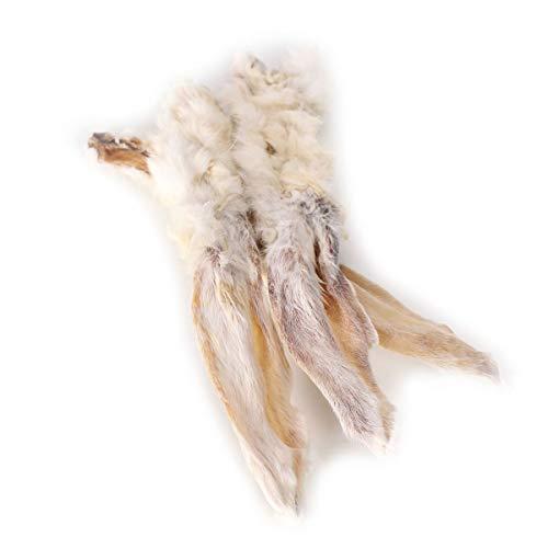Grobys Kaninchenohren mit Fell getrocknet als Kauartikel für Hunde, Verpackungseinheit:1 Kilogramm
