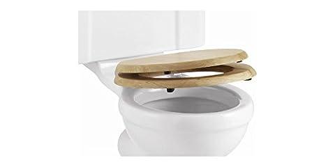 Burlington Wooden Golden Oak Soft-Close Toilet Seat by Burlington