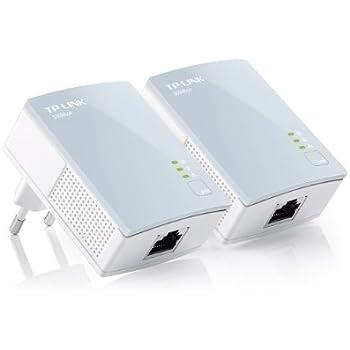 TP-Link TL-PA411KIT AV500 Nano Starter Kit di Adattatori Powerline, 1 Porta Ethernet, 500 Mbps, Plug & Play, Bianco, 2 Pezzi