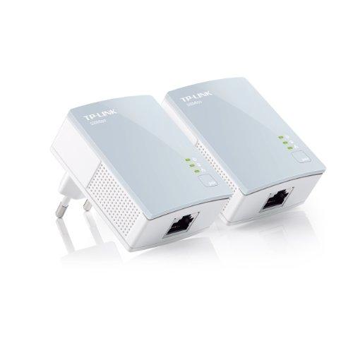 TP-Link TL-PA411 KIT AV500 Powerline Netzwerkadapter (500Mbit/s, 1 Port, energiesparend, Plug & Play, kompatibel mit Adaptern anderer Marken, 2er Set) weiß