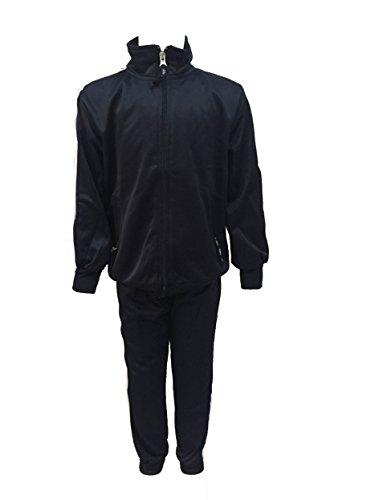 tuta scolastica acetata ABN by AMBROSINO giacca full zip pantalone con elastici BLU art.a807b (5 ANNI)
