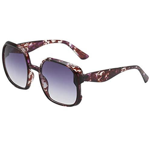 Lazzboy Mann Frauen Unregelmäßige Form Sonnenbrille Brille Vintage Retro Style Herren Polarisierte Damen Rechteckige Metall Rahme Ultra Leicht Sportbrille(E)