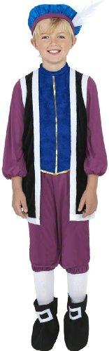 Tudor Boy Fancy Dress Costume Age 7-9 Boys (Old English)