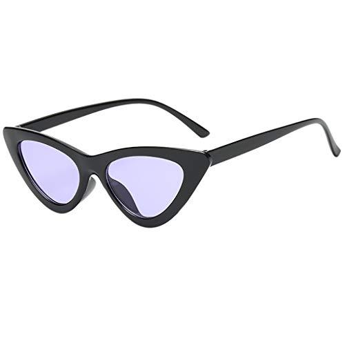 REALIKE Unisex Sonnenbrille Mode Neon Farben Katzenauge Schmal UV-400 Designer-Brille High-Mode Farbvariation Dreieckig Sunglasses Cat-Eye Travel Eyewear (Farbe : A-G)