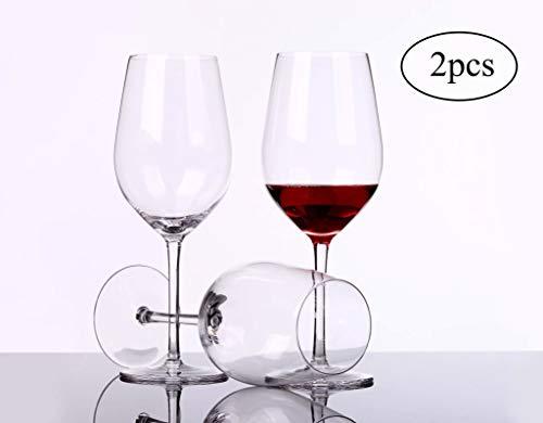 WJSX Mundgeblasene Stilvolle und Hochwertige Burgunder-Weingläser 2er-Set Geeignet für Verschiedene Verwendungszwecke: Pinot Noir, Gamay, Zweigelt, St. Laurent usw. Rotweinglas