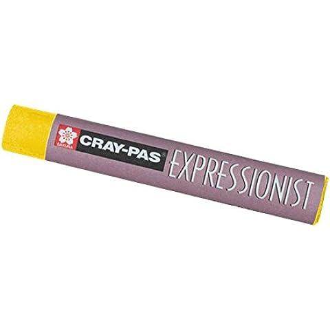 Cray-Pas expresionista en colores pastel de color amarillo oscuro