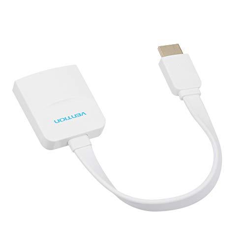 Gamogo VENTION HD Stecker auf VGA Buchse Konverter Adapter 15cm Flach HD Videokabel 1080P High Definition für PS4 Spielkonsole DVD PC STB Laptop Projektor Monitor TV Any Dvd Video Converter